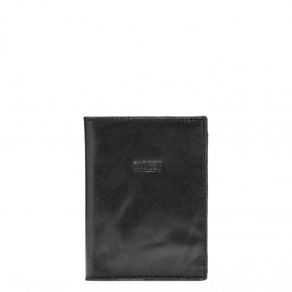 Noir Porte-billets avec 4 fentes verticales