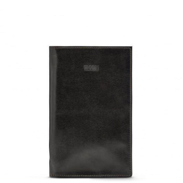 Brun Grand porte-passeport à pochettes