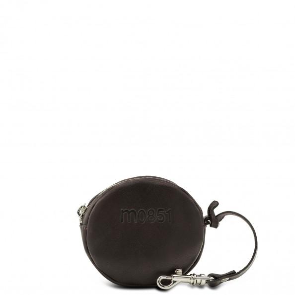 Brun Petite pochette ronde avec crochet