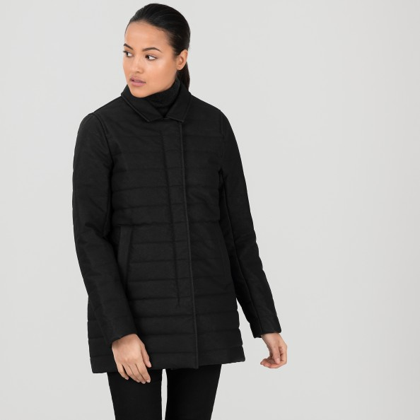 Noir Manteau matelassé