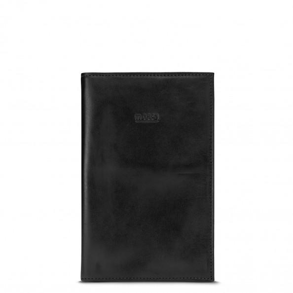 Noir Grand porte-passeport à pochettes