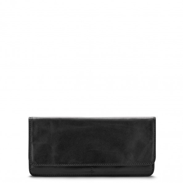 Black Slim Folded Wallet