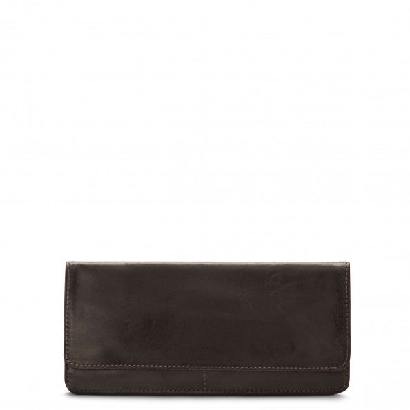 Brown Slim Folded Wallet