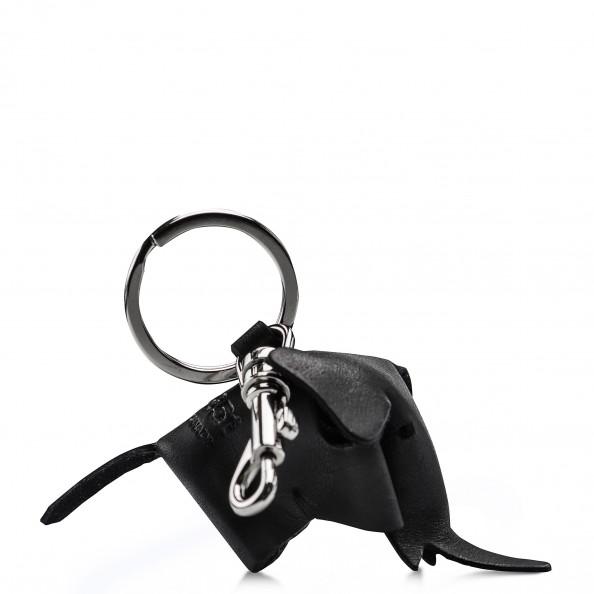 Black Elephant Key Ring