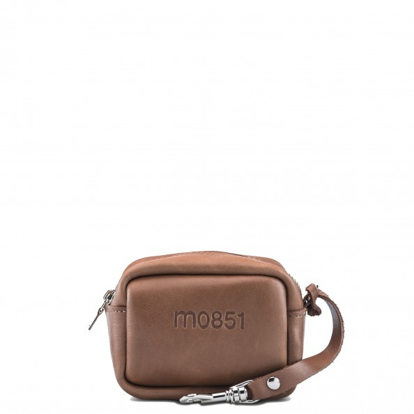 Chestnut Small Square Pouch with Hook