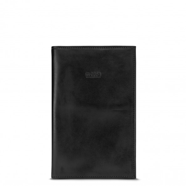 Black Large Passport Holder with Pockets