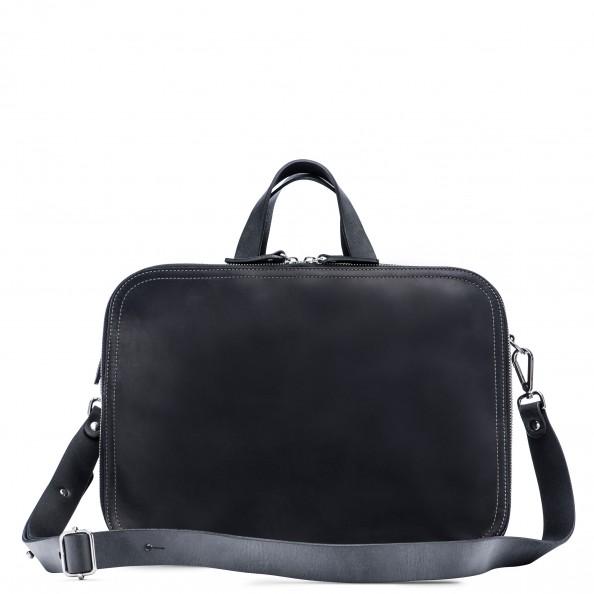 Black Soft Briefcase Zip-Around