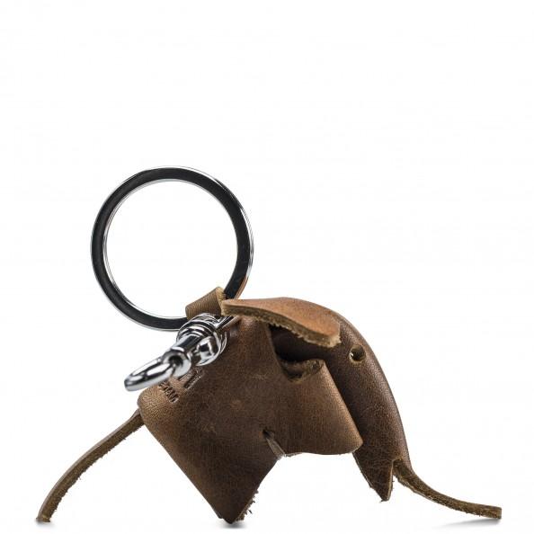 Chestnut Elephant Key Ring