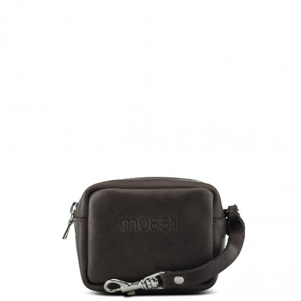 Brown Small Square Pouch with Hook