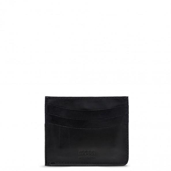 Black Card Holder with Pocket