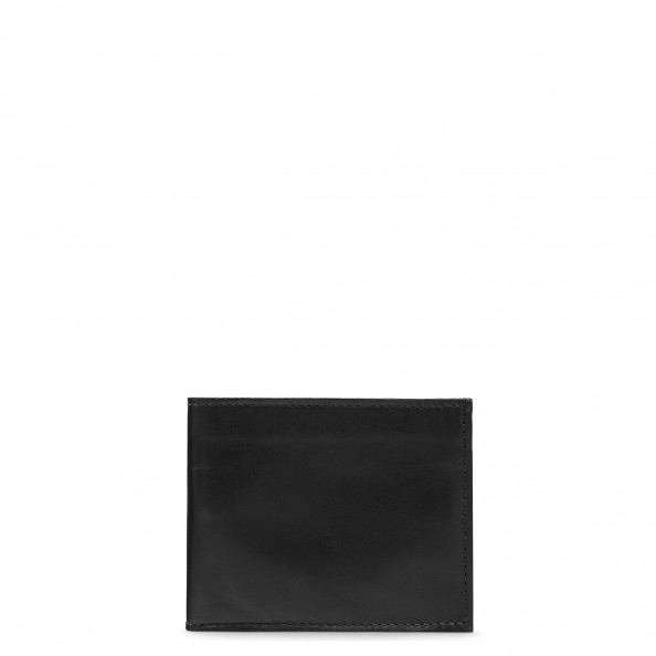 Black Small Billfold with Six Card Slots