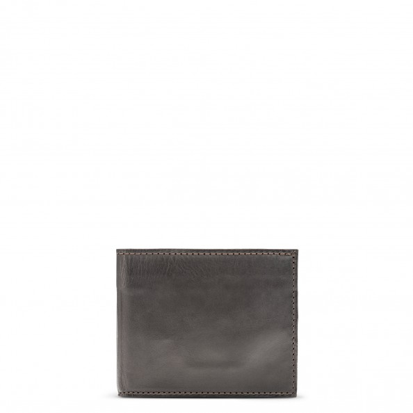 Brown Small Billfold with Six Card Slots