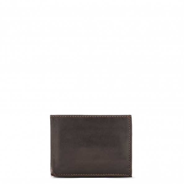 Brown Wallet with Gusset Pocket
