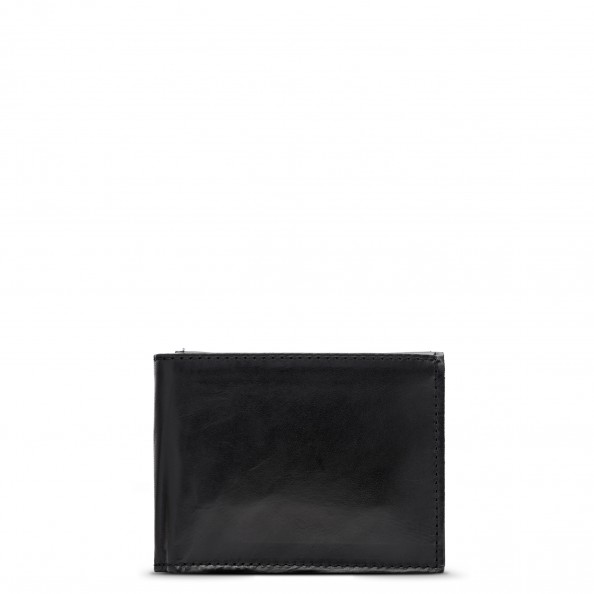 Black Wallet with Flap