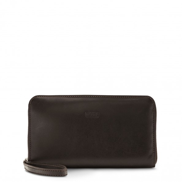 Brown Zip Around Wallet