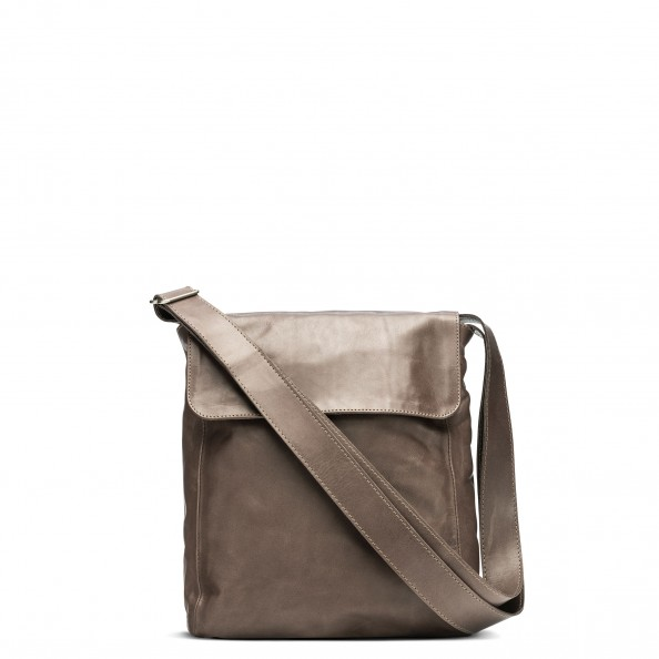 Ash Short Flap Vertical Messenger Bag