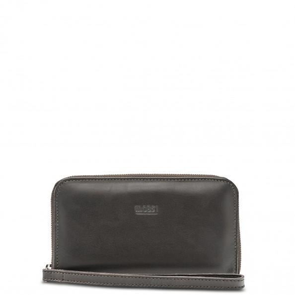 Brown Zip Around Wallet