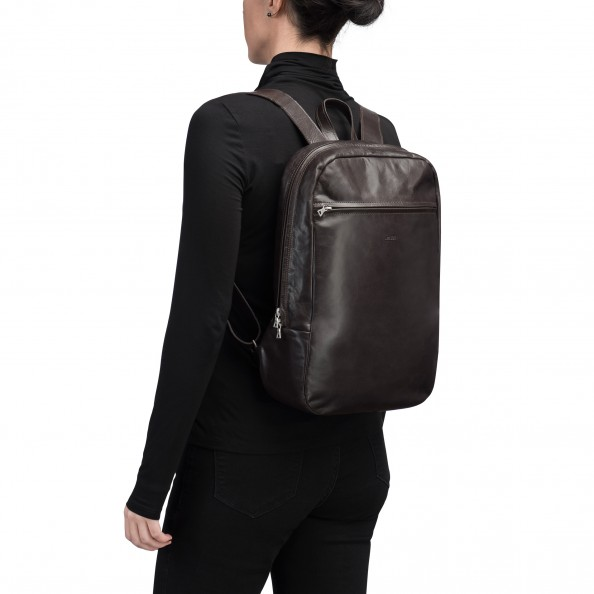 Brown Small Organizer Backpack