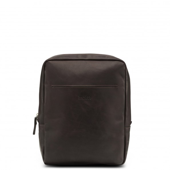 Brown Medium Vertical City Backpack