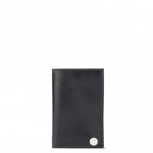 Grey Card Holder with Plastic Sleeves