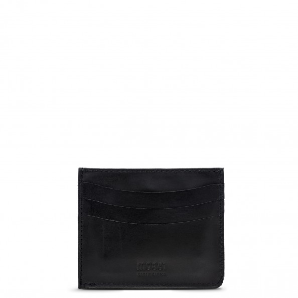 Black Card Holder with Pocket