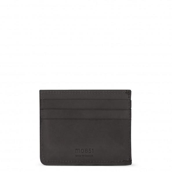 Dark Grey Card Holder with Pockets